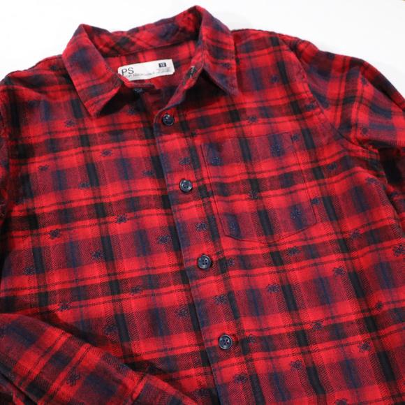 Aeropostale Other - Red Black Plaid Boys Button Up Dress Shirt 12 Aero
